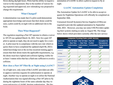 DRONERESPONDER Newsletter on FAA Updates August 2021