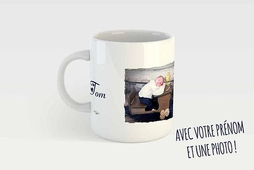 Mug PERSONNALISÉ - 1 PHOTO + TEXTE