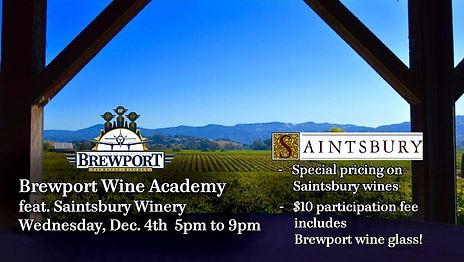 Dec 4 Saintsbury Winery Wine Academy rev