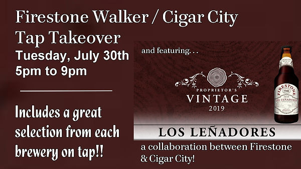 Cigar City and Firestone Collab poster f