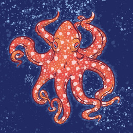 Starry Night Octopus