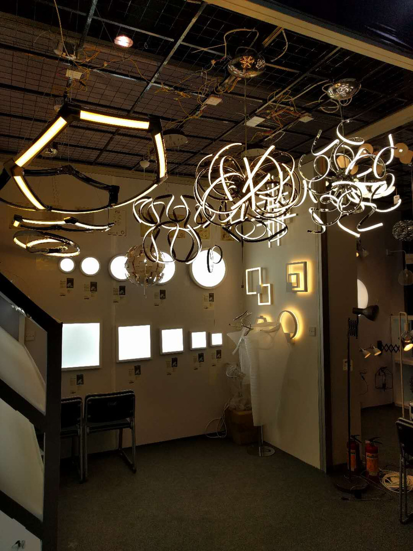 Showroom displaying our lighting