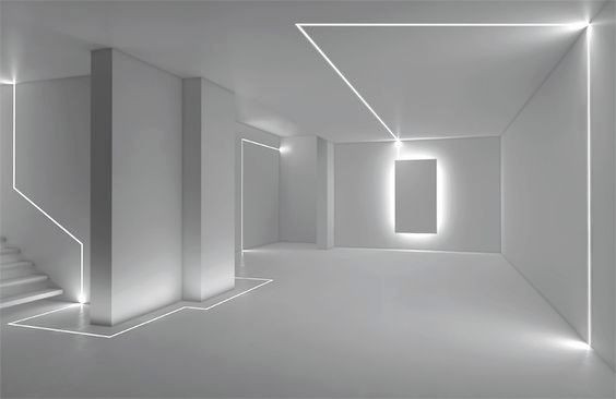 Show room with linear lighting system