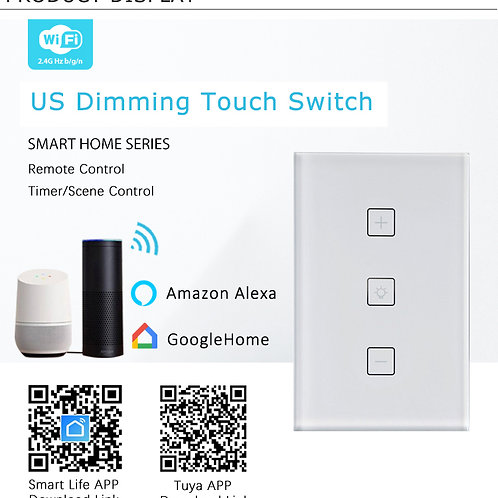 Smart Glass Switch Dimmable