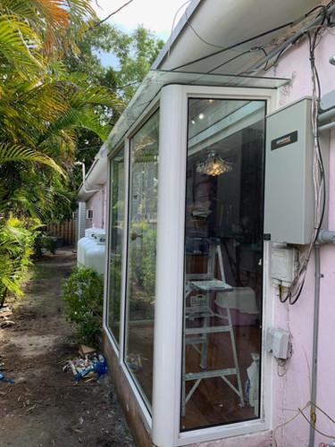Patio Sunroom impact windows