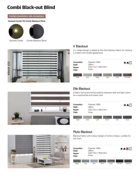 Pg.8 Combi Blackout blinds