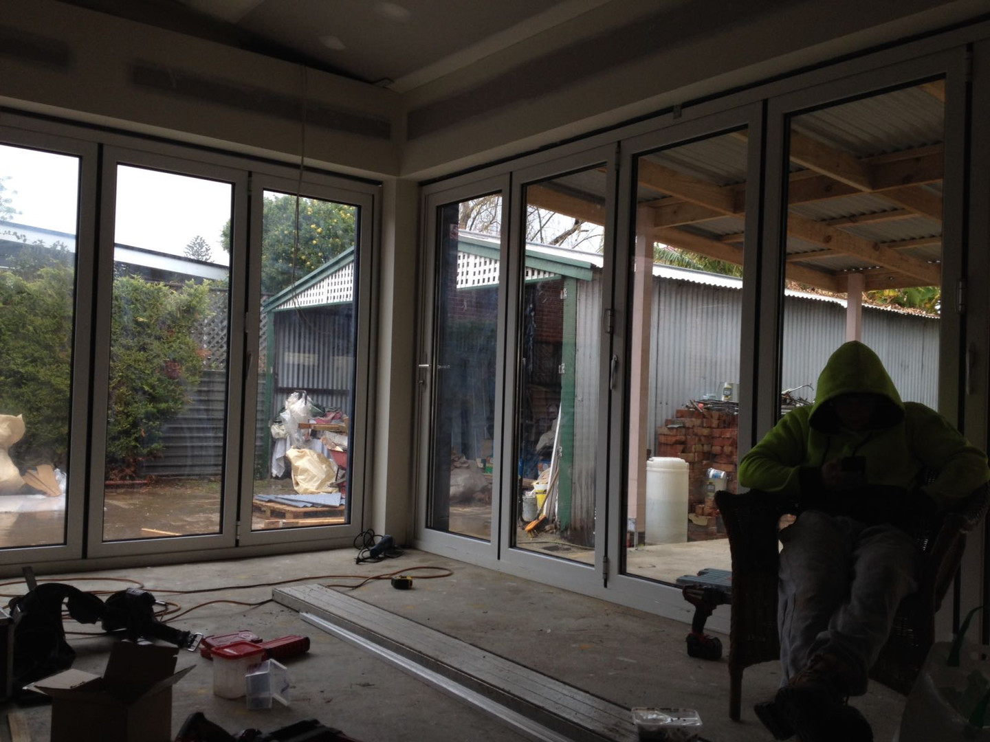all foldable glass doors