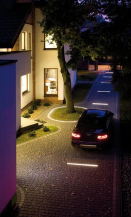 Led strip in driveway