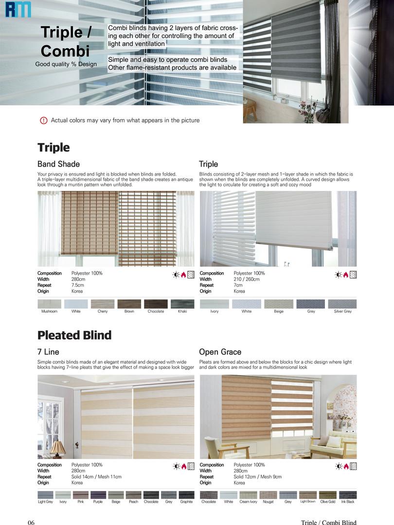 Pg.6 Triple / Combi blinds