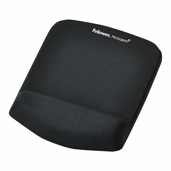 Fellowes PlushTouch Wrist Rest Mouse Pad Black