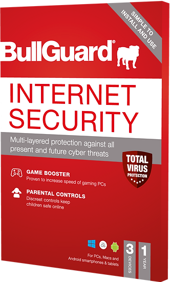 Bullguard Internet Security 2021 Edition- Electronic Licence -3 User 1 Year
