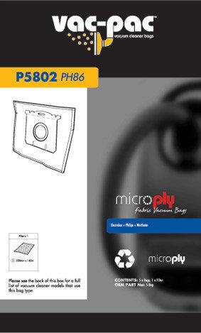 PH86 MICROPLY VACUUM CLEANER BAG
