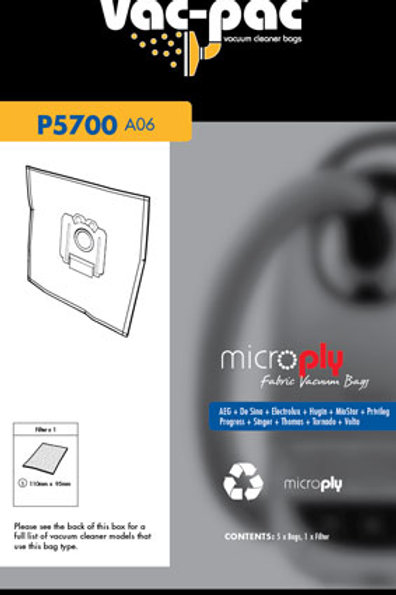 A06 MICROPLY VACUUM CLEANER BAG