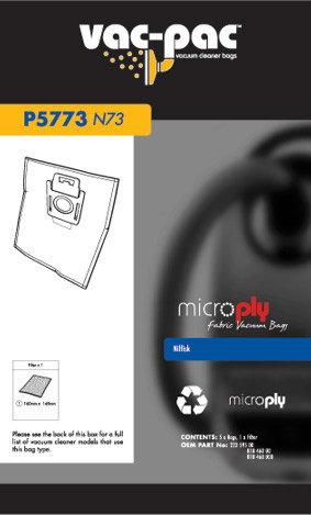 N73 MICROPLY VACUUM CLEANER BAG