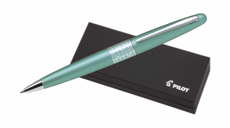 Pilot MR3 Ballpoint Medium Metallic Aqua Blue (BP-MR3-M-DT-L)