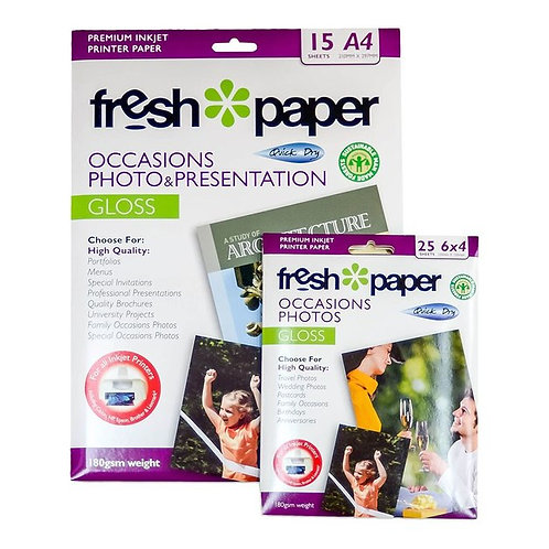 Fresh Photo Paper 180Gsm Gloss A4 + 6x4 Value Pack