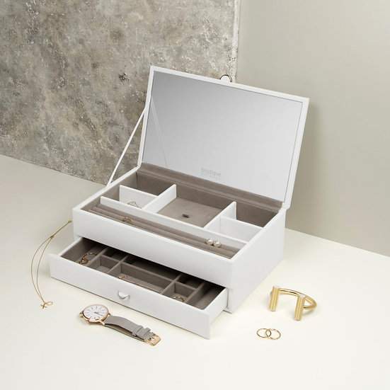 STACKERS BOUTIQUE MEDIUM JEWELLERY BOX WHITE