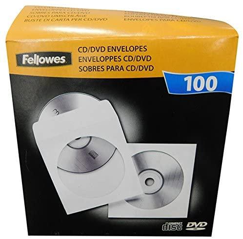 Fellowes CD Envelopes Pack 100