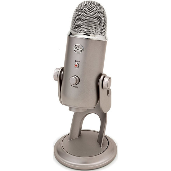 BLUE Yeti Microphone Professional quality, 3-capsule USB mic featuring 4 polarpa