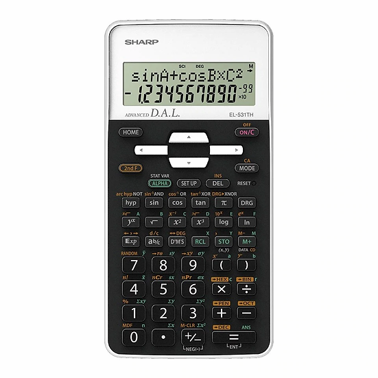 Sharp EL-531THBWH Scientific Calculator with Cover