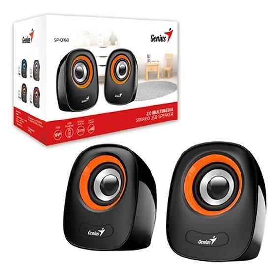 Genius SP-Q160 Black USB Powered Mini Speakers - Orange