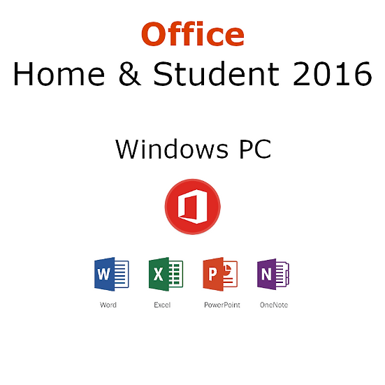 Microsoft Office 2016 Home & Student Activation Key – 1 Windows PC