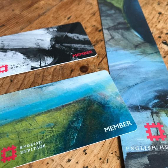 English Heritage member cards and bookmark