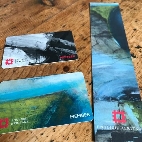English Heritage membership cards and bookmark