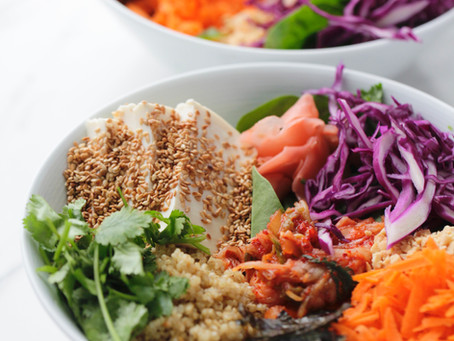 Quinoa Kimchi Bowl