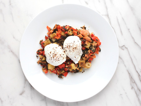 Smoked Salmon Hash with Poached Eggs