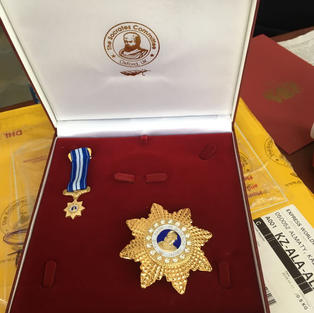 "Награда от Оксфорда почетного звания ""Имя в Науке"""