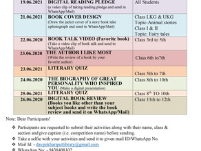 National Reading Day, Reading Week, Reading Month 2021, Celebration