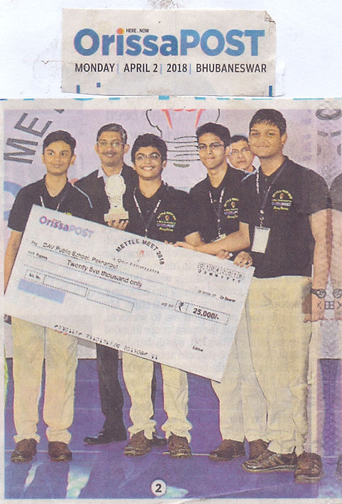 Dav pokhariput Students got third Prize in Metal Meet Quiz conducted by Orissa Post