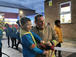 Beavers Fire Station Visit