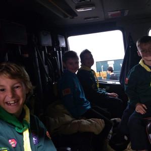 Cubs Fire Station Visit