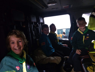 Cubs Fire Station Visit