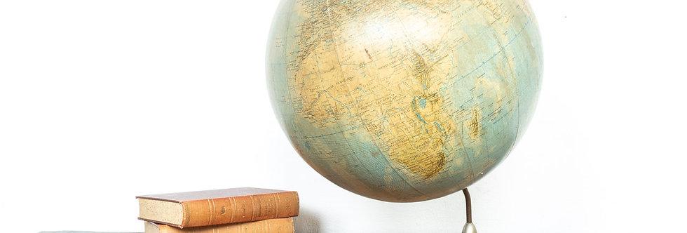 Vintage antieke wereldbol wereld bol globe globus wereldbol