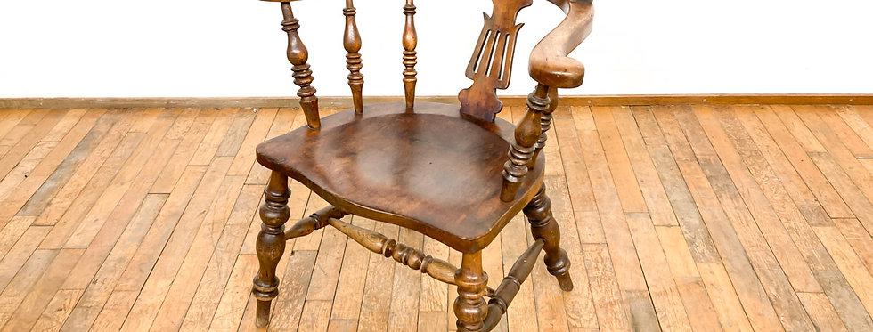 antieke Engelse captain chair bureaustoel bureau stoel