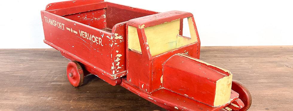 Vintage antieke houten auto vrachtwagen antiek speelgoed vintage hout truck