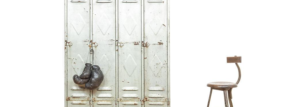 Vintage antieke oude industriële industrial industrieel locker lockerkast kast metaal mancave stoer