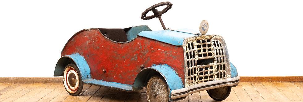 Vintage antieke trapauto pedalcar antiek speelgoed auto