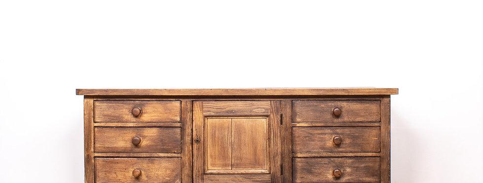 Vintage antieke antiek apothekerskast apotheker kast ladekast lade kast