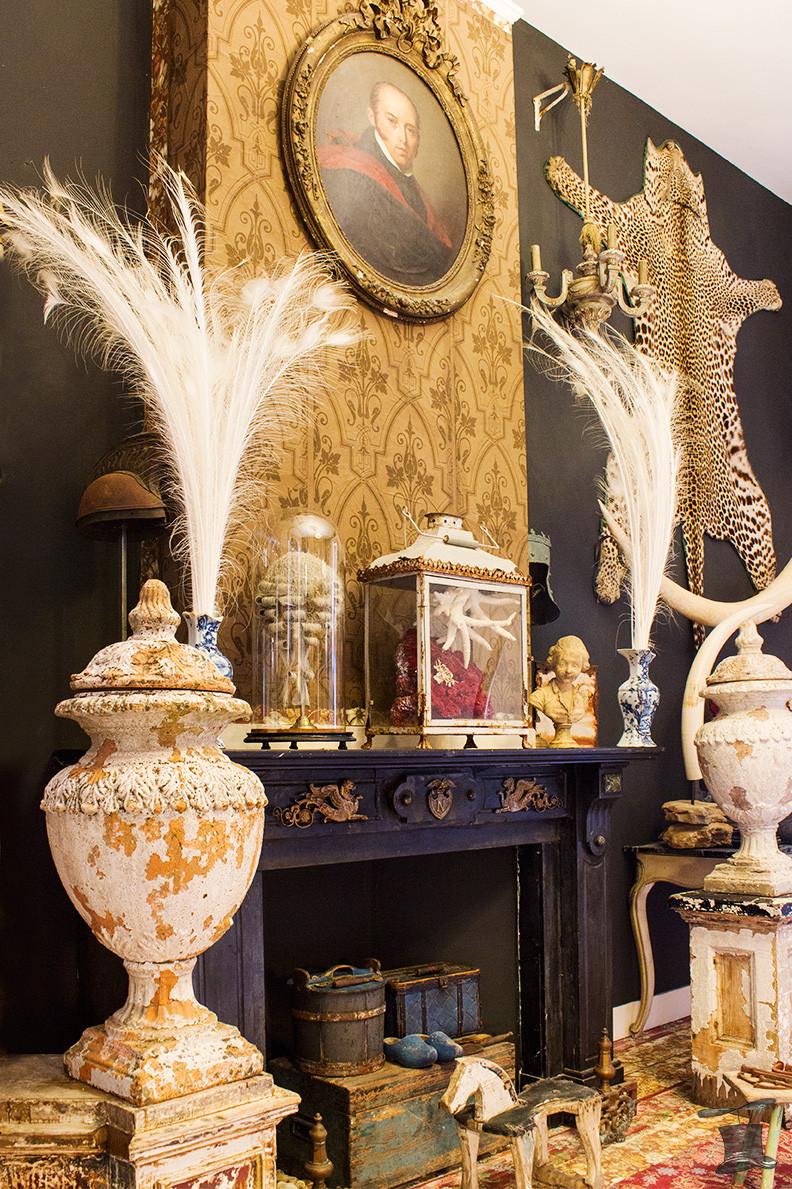 Brocante Frans antieke  antiek woning inrichting decoratie taxidermie taxidermy