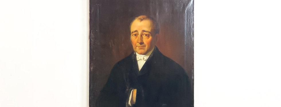 M.Calisch olie op doek schilderij Portret  Hercules Franciscus Victorianus Usellino