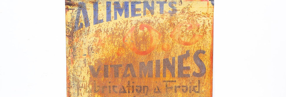 Vintage retro reclamebord verweerd parina vitamines