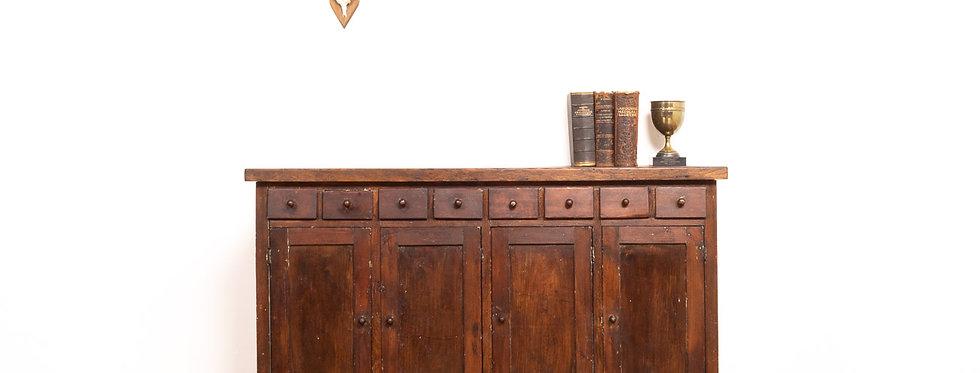 Vintage antieke apothekerskast apotheker kast laden kookeiland antiek industrieel industriële toonbank ladekast