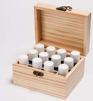 houten kistje voor 12 flesjes: 8,00 euro.