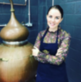 Holly Harwood at Trevethan Distillery in Cornwall.