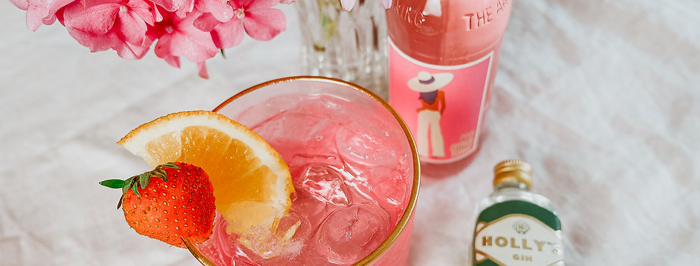 Holly's Pink G&T & Glass Gift Set