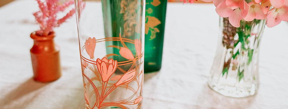 Coral Art Nouveau Glasses (Set of 4)